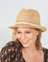 Fat Face Lace Band Straw Trilby