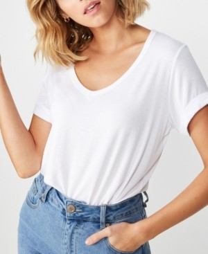 Cotton On Karly Short Sleeve V Neck Top