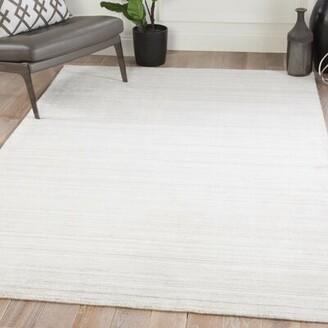 KNOTT Mercer41 Hand-Woven Ivory/Gray Area Rug Mercer41 Rug Size: Rectangle 5' x 8'