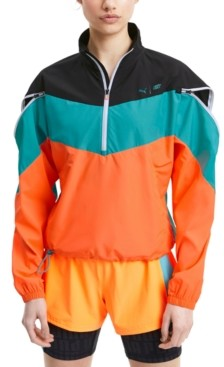 Puma Women's Train First Mile Xtreme Colorblocked Half-Zip Training Jacket