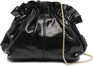 Loeffler Randall Willa snakeskin effect clutch bag