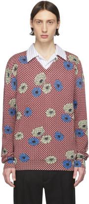 Marni Burgundy Flower Print Sweater