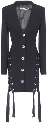Alessandra Rich Lace-Up Detail Blazer Dress