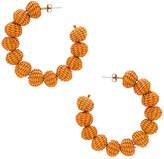 Mercedes Salazar Candonga Hoop Earrings in Orange.