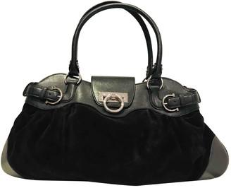 Salvatore Ferragamo Sofia Black Suede Handbags