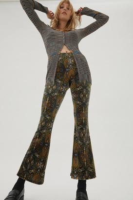 Urban Renewal Vintage Remnants Velvet Printed Flare Pant