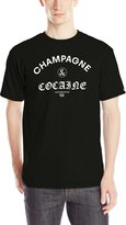 Crooks & Castles Men's Knit Crew T-Shirt Champagne and Cocaine