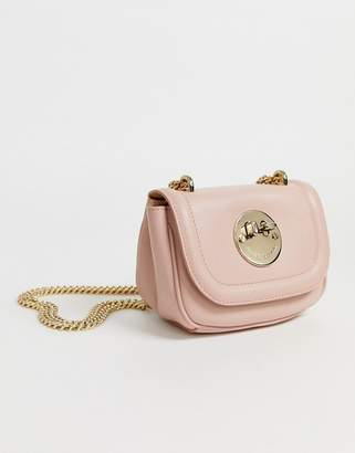 Hill & Friends Hill and Friends Tweency bag in blush pink leather with chain handle