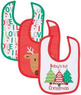 Baby Essentials 'Baby's 1st Christmas' Bib Set