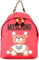 Moschino teddy bear back pack - women - Polyurethane - One Size
