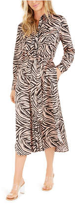 Bar III Becca Tilley x Animal-Print Shirtdress