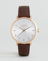 Nixon Arrow Rose Gold & Brown Leather Watch A1091-2369