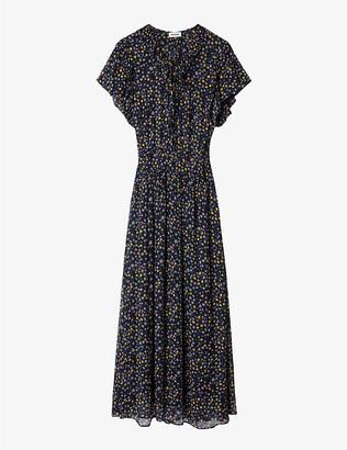 Zadig & Voltaire Rainy lace-up front crepe dress