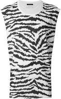Balmain zebra print T-shirt