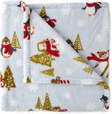 North Pole Trading Co.TM Velvet Plush Holiday Throw