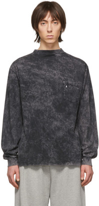 Aries Black Acid Wash Pocket Long Sleeve T-Shirt