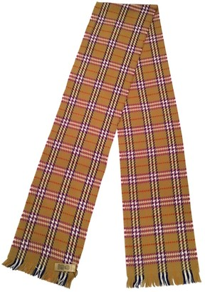 Burberry Gold Wool Scarves