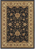 "Couristan Area Rug, Tamena TAM881 Isfahan Black 3'11"" x 5'3"""