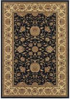 "Couristan Area Rug, Tamena TAM881 Isfahan Black 5'3"" x 7'6"""