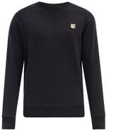 Maison Kitsuné Maison Kitsune - Fox Head Patch Cotton Sweatshirt - Mens - Black