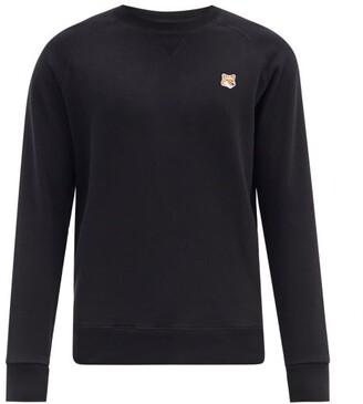 MAISON KITSUNÉ Fox-head Patch Cotton Sweatshirt - Black
