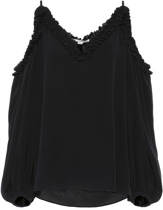 Stella McCartney Cold-shoulder silk blouse