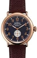 Shinola 47mm Runwell Leather Watch