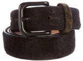 Etro Ponyhair Paisley Belt