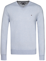 Tommy Hilfiger Cotton Silk V-neck Jumper