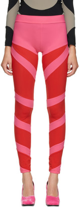 Paula Canovas Del Vas Red and Pink Lycra Leggings