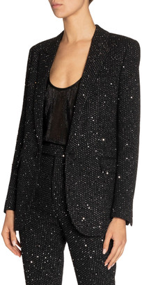 Saint Laurent Shimmered Crepe Blazer