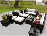 Tegan 12 Piece Multiple Chairs Seating Group with Cushions Sol 72 Outdoor Cushion Color: White