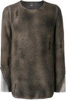 Avant Toi destroyed jumper - men - Cotton/Cashmere/Merino - M
