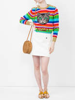 Gucci Guccigy embroidered stripe knit sweater