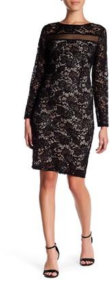 Marina Mesh Illusion Dress (Petite)