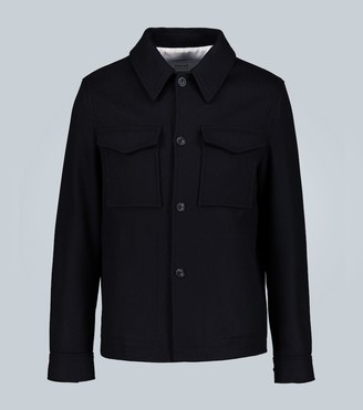 Ami Buttoned wool-blend jacket