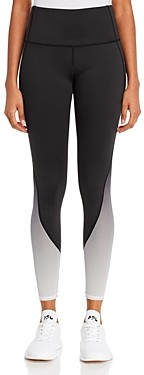 Andrew Marc Ombre Mesh Trim Leggings