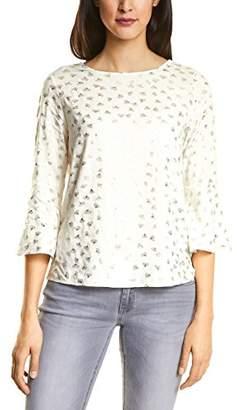Street One Women's 311893 Fenja Longsleeve T-Shirt, Multicolour (Off White 208)