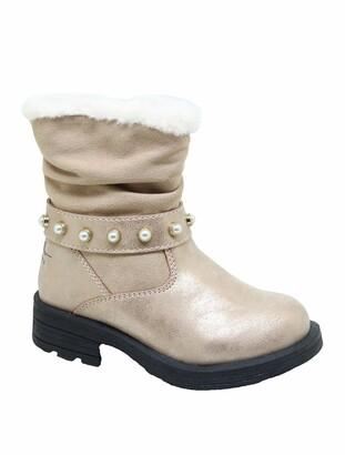 Nicole Miller Studded Faux Fur Scrunch Boot