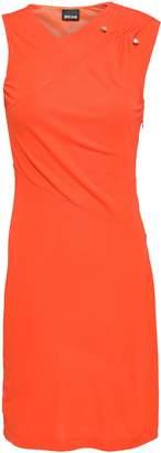 Just Cavalli Wrap-effect Jersey Mini Dress