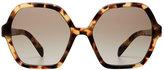 Prada Oversize Tortoiseshell Sunglasses