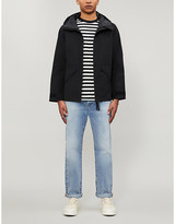 Sandro Funnel-neck relaxed-fit cotton-blend parka jacket