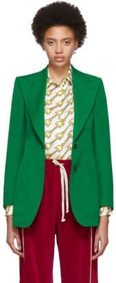 Gucci Green Wool Blazer