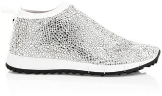 Jimmy Choo Norway Jewelled Mesh Knit Sneakers