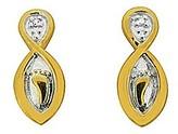 Fashion World Footprints Diamond Set Earrings