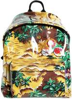 DSQUARED2 Plastic Covered Printed Canvas Backpack
