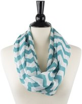 Pop Fashion Women's Chevron Patterned Infinity Scarf with Zipper Pocket