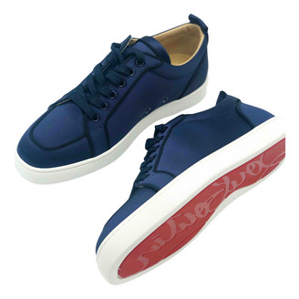 Christian Louboutin Louis junior spike Navy Cloth Trainers