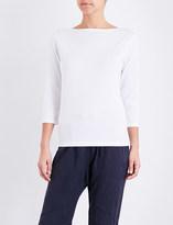 Sunspel Boat neck cotton-jersey top