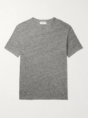 Officine Generale Heather Melange Linen T-Shirt